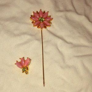 Vintage Flower Stick Pin! Adorable!